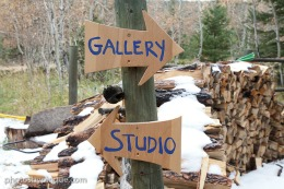 Open Studios Artist Steven Homsher's Studio/Gallery Sign